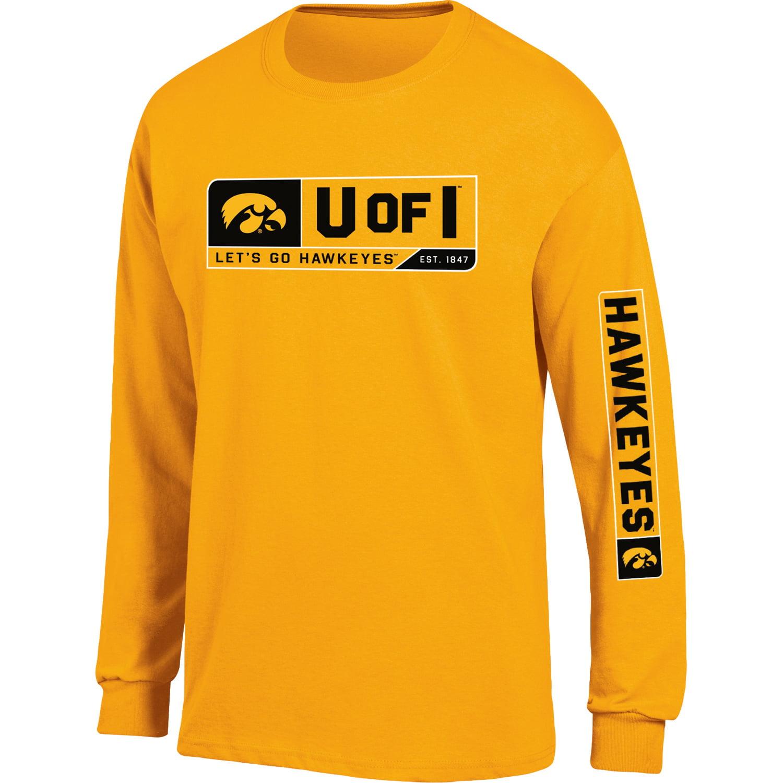 Men's Russell Gold Iowa Hawkeyes Team Long Sleeve T-Shirt