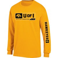 Men's Russell Athletic Gold Iowa Hawkeyes Team Long Sleeve T-Shirt