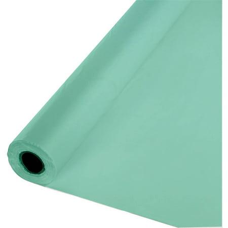 Fresh Mint Green Plastic Banquet Roll, - Mint Green Plastic Tablecloth