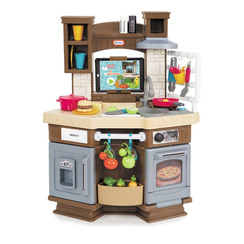 Little Tikes Cook 'n Learn Smart Kitchen with 40+ Piece Accessory Set and 4 Play Modes by MGA