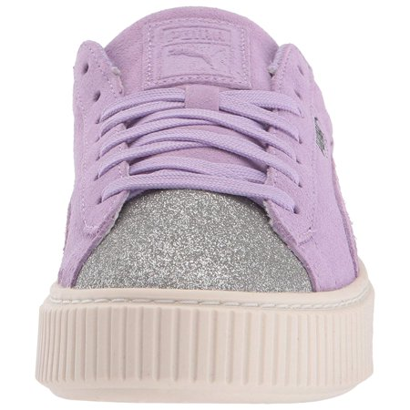 online retailer 7a1fb cee35 PUMA Girls Suede Platform Glam Low Top Lace Up | Walmart Canada