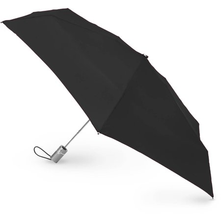 Totes Isotoner 3 Section Auto Open Umbrella - Black Lace Umbrella