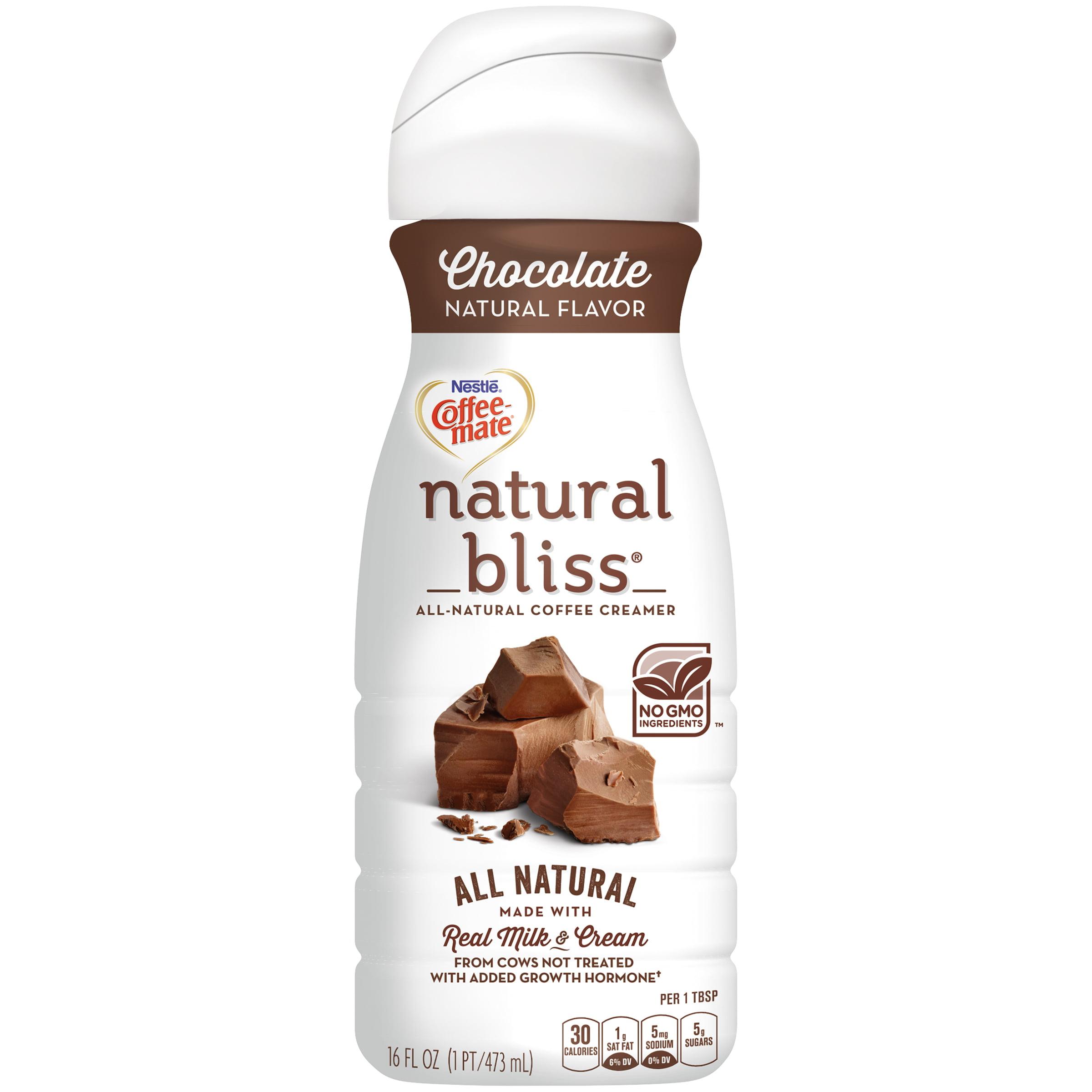 COFFEE-MATE NATURAL BLISS Chocolate Liquid Coffee Creamer 16 fl. oz. Bottle