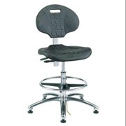 Bevco ESD/Cleanroom Pneumatic Task Chair, 300 lb. Weight Limit, Black, 7351E