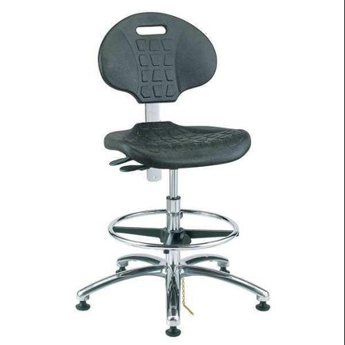 "BEVCO ESD/Cleanroom Pneumatic Task Chair 17-1/2"" to 25""H, Black, 7351E"