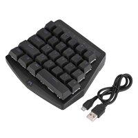 LYUMO One-hand Keyboard,USB Wired Mini Mobile Phone Game Mechanical Keyboard Backlit 28 Keys for PUBG