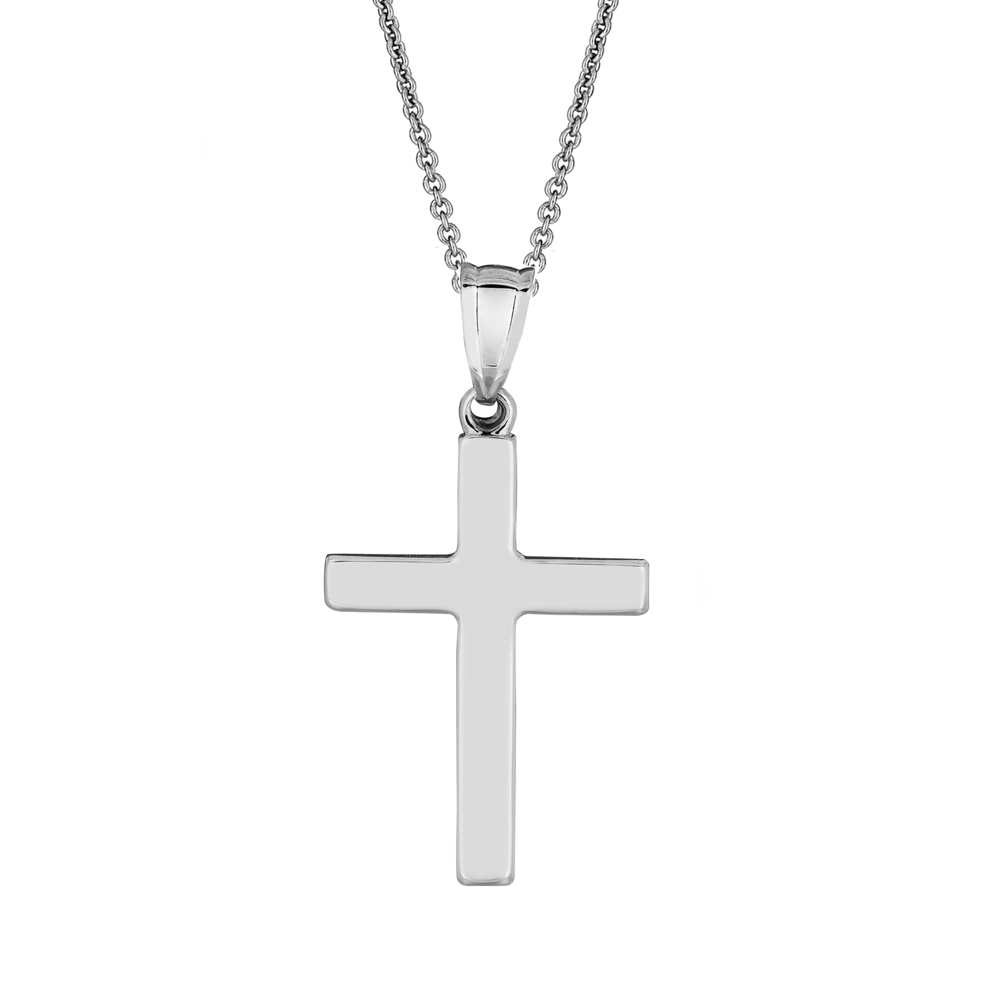 Ritastephens Sterling Silver Mini Crucifix Cross Small Pendant Necklace 16, 18, 20 Inches