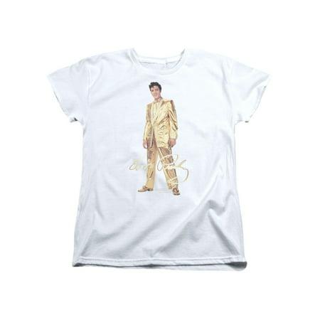 Gold Lame Elvis (Elvis Presley The King Rock Gold Lame Suit Women's T-Shirt)
