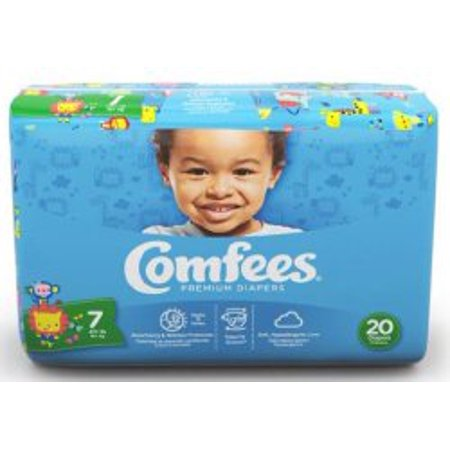 Comfees Baby Diaper Size 7 Over 41 lbs. CMF-7 80 /Case