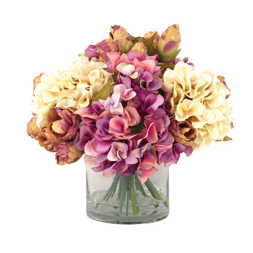 Creative Displays, Inc. Hydrangea Floral in Tall Glass