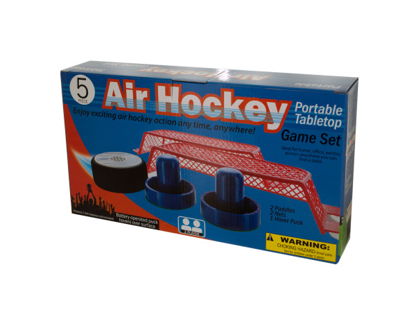 Portable Tabletop Air Hockey Game Set by Bulk Buys