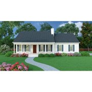 The House Designers: THD-5458 Builder-Ready Blueprints to Build a Small Ranch House Plan with Crawl Space Foundation (5 Printed Sets)