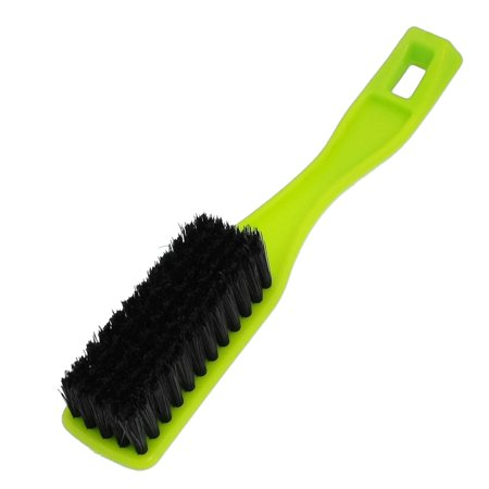 Unique Bargains Clothes Black Bristle Rectangle Base Green Plastic Shoe Boot Clothes Scrubbing