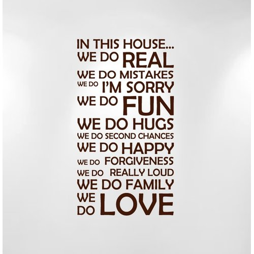 Innovative Stencils ''In This House We Do...'' Family Quote Wall Decal