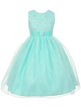 13cb3830d94d Product Image BNY Corner Flower Girl Dress Sparkly Bodice   Stylish Skirt  for Big Girl Aqua 10 TR