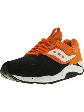 Saucony Men's Grid 9000 Black/Orange Ankle-High Fashion Sneaker - 8.5M