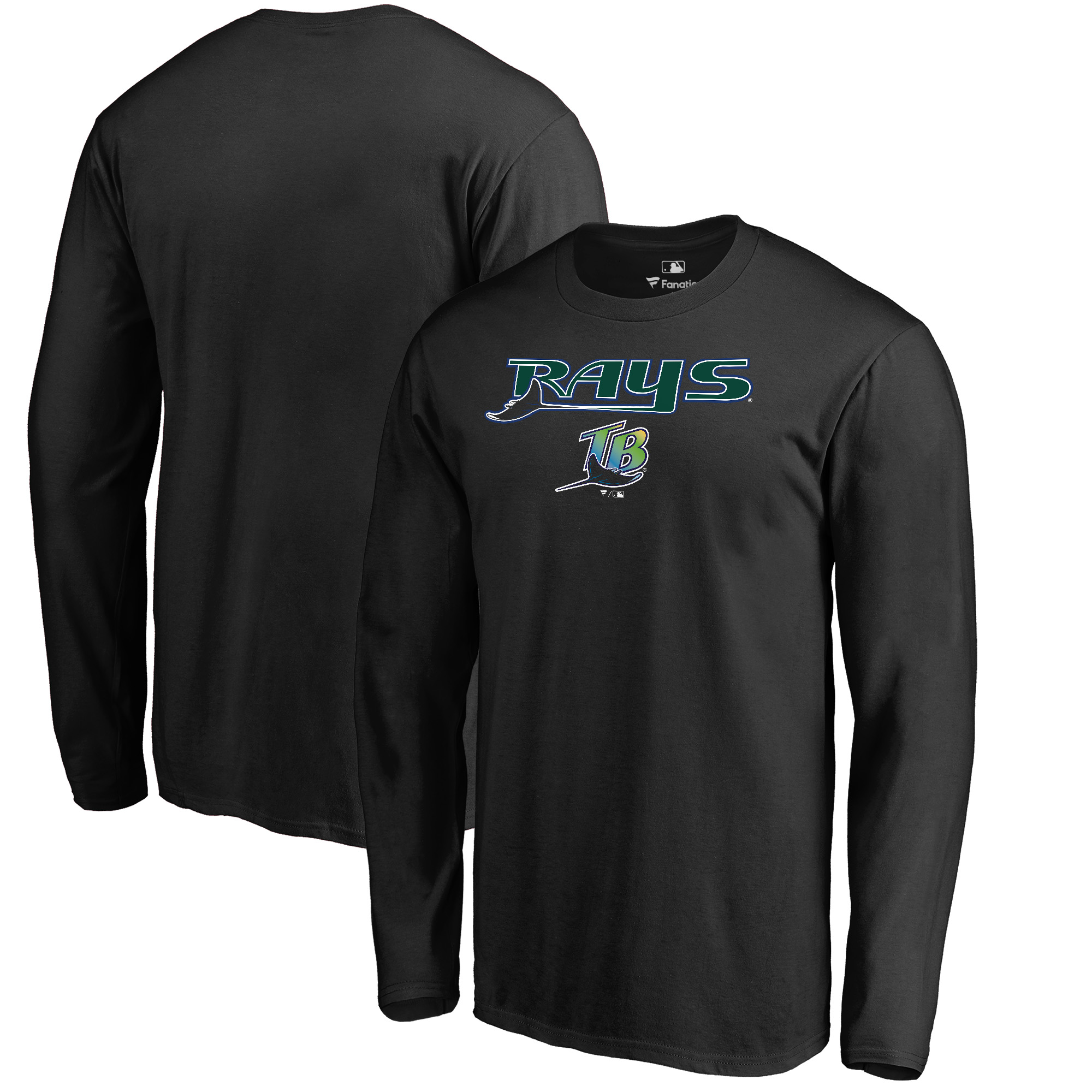 Tampa Bay Rays Fanatics Branded Big & Tall Cooperstown Collection Wahconah Long Sleeve T-Shirt - Black
