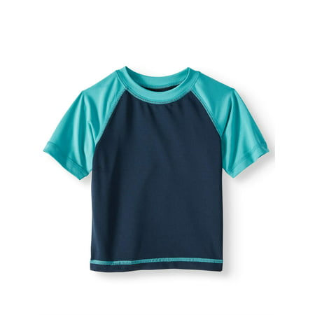 Wonder Nation Short Sleeve Rashguard Swim Top (Baby Boys)