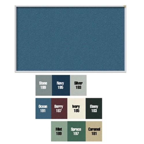 Vinyl Tackboard with Wrapped Edge (60.63 in. W x 48.63 in. H in Ivory)