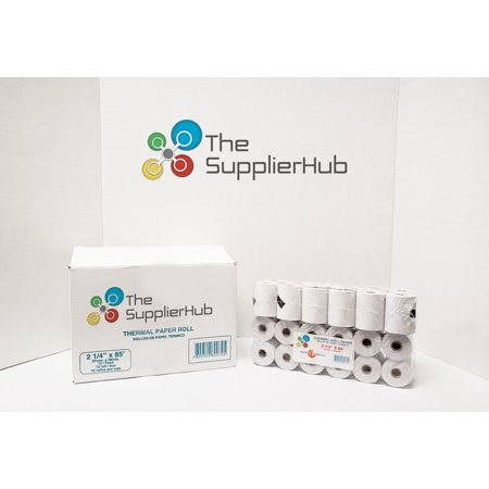 TheSupplierHub 2-1/4 x 85' 72 ROLL/Pk Thermal Paper Roll for Cash Register and POS Receipt printers - Use in Some Verifone, Omni, Hypercom and MORE - BPA Free (Thermal Paper Register)