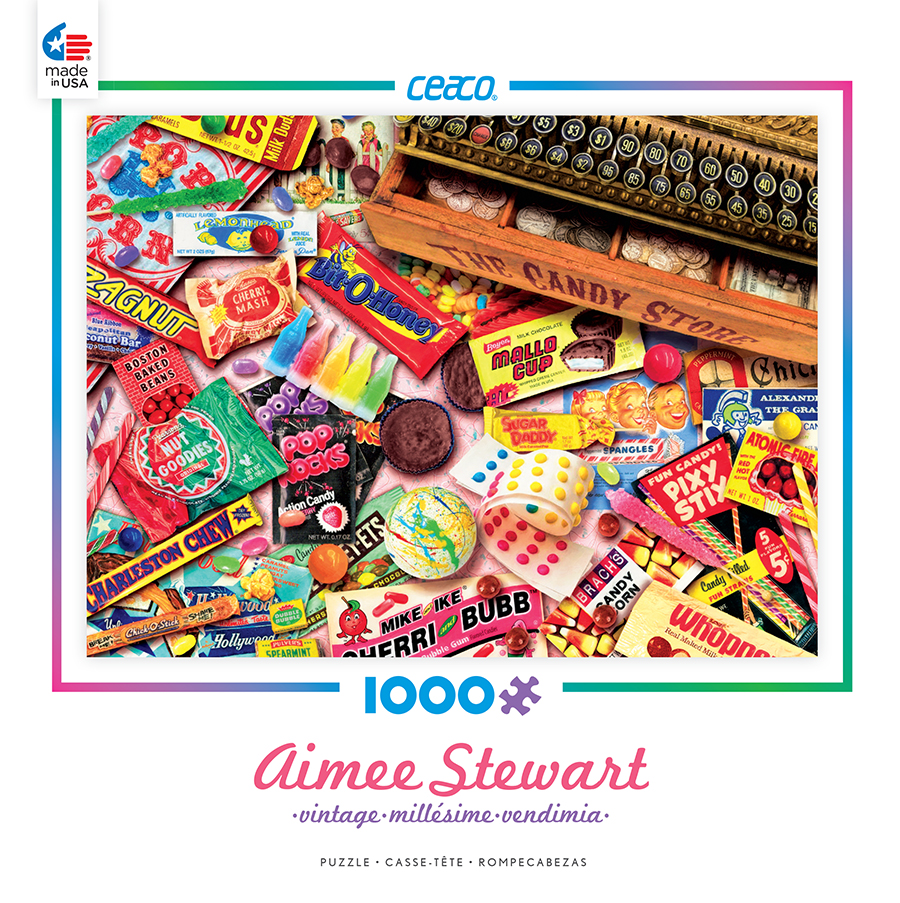 Ceaco 1000 Piece Aimee Stewart Vintage Candy Shop Jigsaw Puzzle #3383