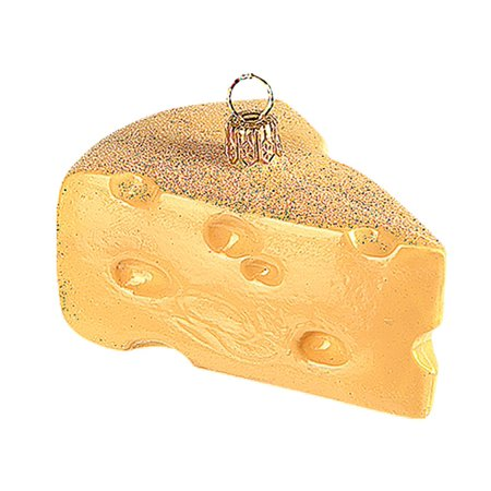 Swiss Cheese Polish Mouth Blown Glass Christmas Ornament  Tree Decoration