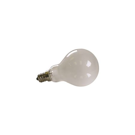 Satco Incandescent Lamp A15, 60 Watt, 120 Volt, Candelabra Base, Frost, 1,000 Average Rated Hours, 10 Per Box 60 Watt Traditional Buffet Lamp