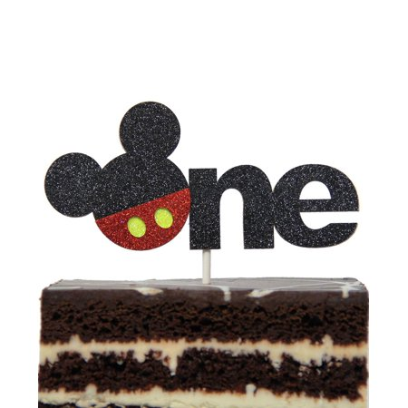 Mickey Mouse Inspired One Year Cake Topper Boys Smash Cake First Birthday (Smash Cake For 1 Year Old Boy)