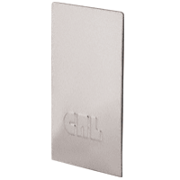 CRL B5WECPS Polished Stainless End Cap for Windscreen and Smoke Baffle Base Shoe