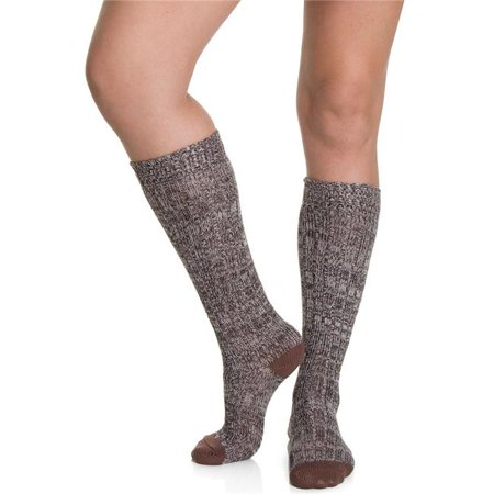 768989cc6 Womens Above Knee High Socks  44  Black And Brown