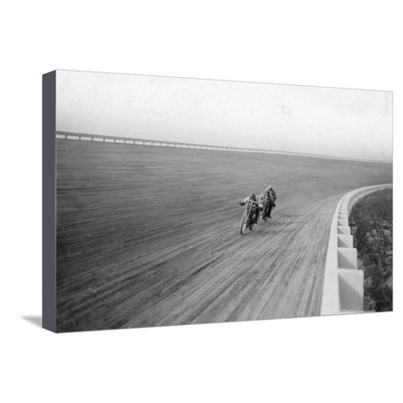 Motorbikes Racing at Speedway Park, Maywood, Chicago, Illinois, USA, 1915 Stretched Canvas Print Wall Art