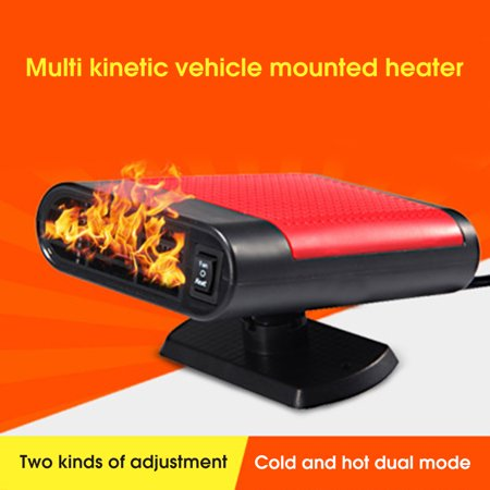 12V 150W Protable Electric Heating Cooling 2 in 1 Fan Windscreen Window Demister Driving Defroster - image 1 de 6