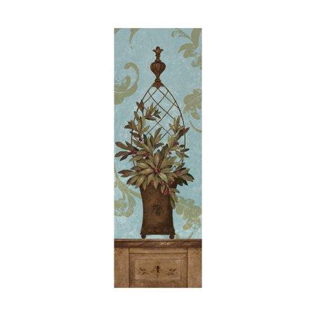 Blue Olive Topiary I Print Wall Art By Pamela Gladding