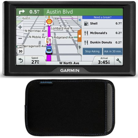 Garmin Drive 50 Gps Navigator  Us And Canada  010 01532 08 Soft Case Bundle Includes Gps And 5 Inch Soft Case