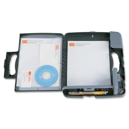 Officemate OIC Portable Clipboard Storage Case, Charcoal (Officemate Aluminum Storage Form Holder)