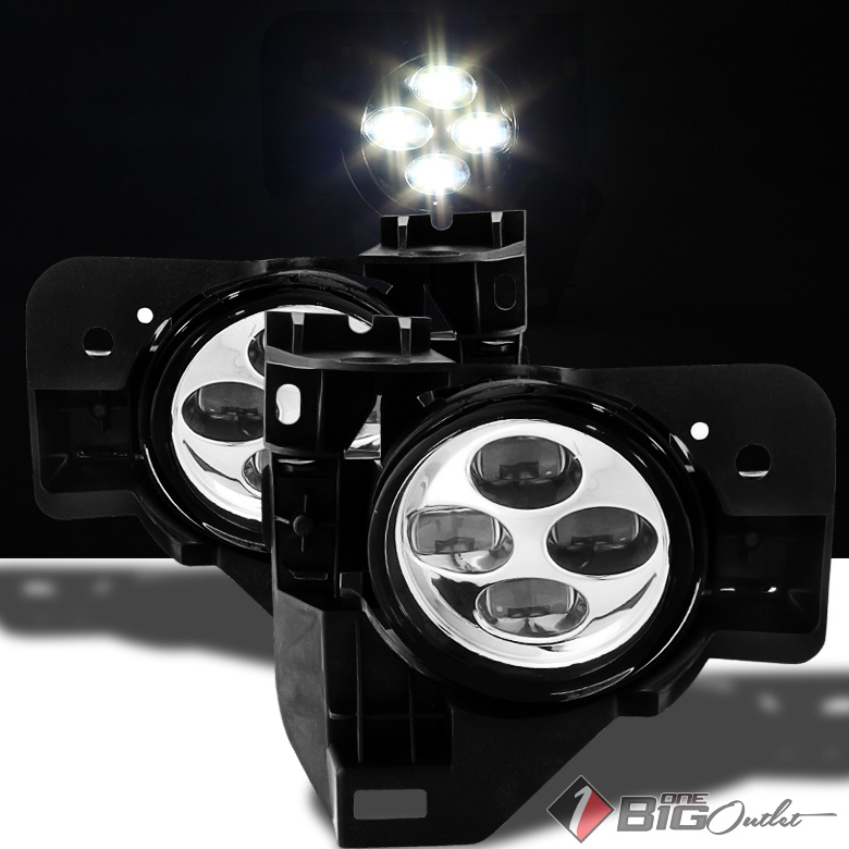 2009-2015 Maxima Super-Bright Quad SMD LED Fog Lights w/Switch Completed Set Pair L+R 2010 2011 2012 2013 2014