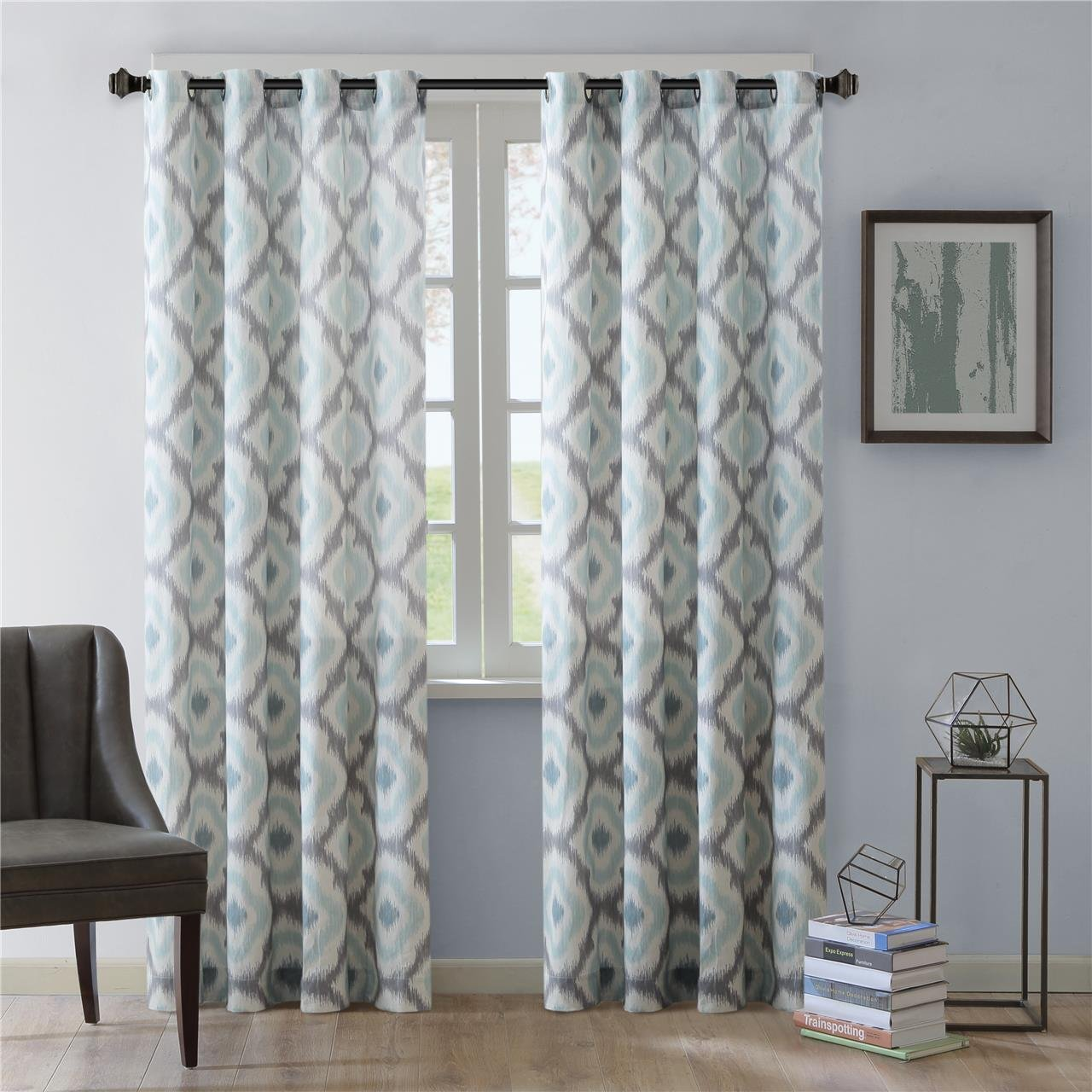 Aqua Blue And Gray Curtains The Best