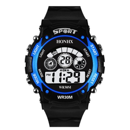 Ceramic Luxury Watch (Children Digital Watch Waterproof Outdoor LED Luxury Alarm Date Sports Students Automatic Mechanical Gift Multifunction Wristwatches)
