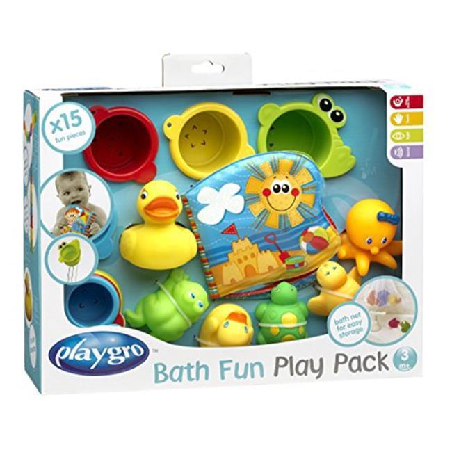 Playgro Bath Fun Play Pack, 15 Pieces