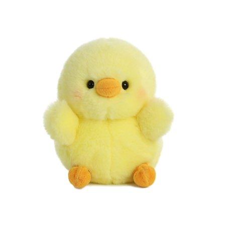 Chickadee Chick Rolly Pet 5 inch - Stuffed Animal by Aurora Plush - Chickadee Chick