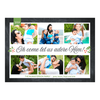 O Come Let Us Adore Him - 5x7 Personalized Religious Holiday Card