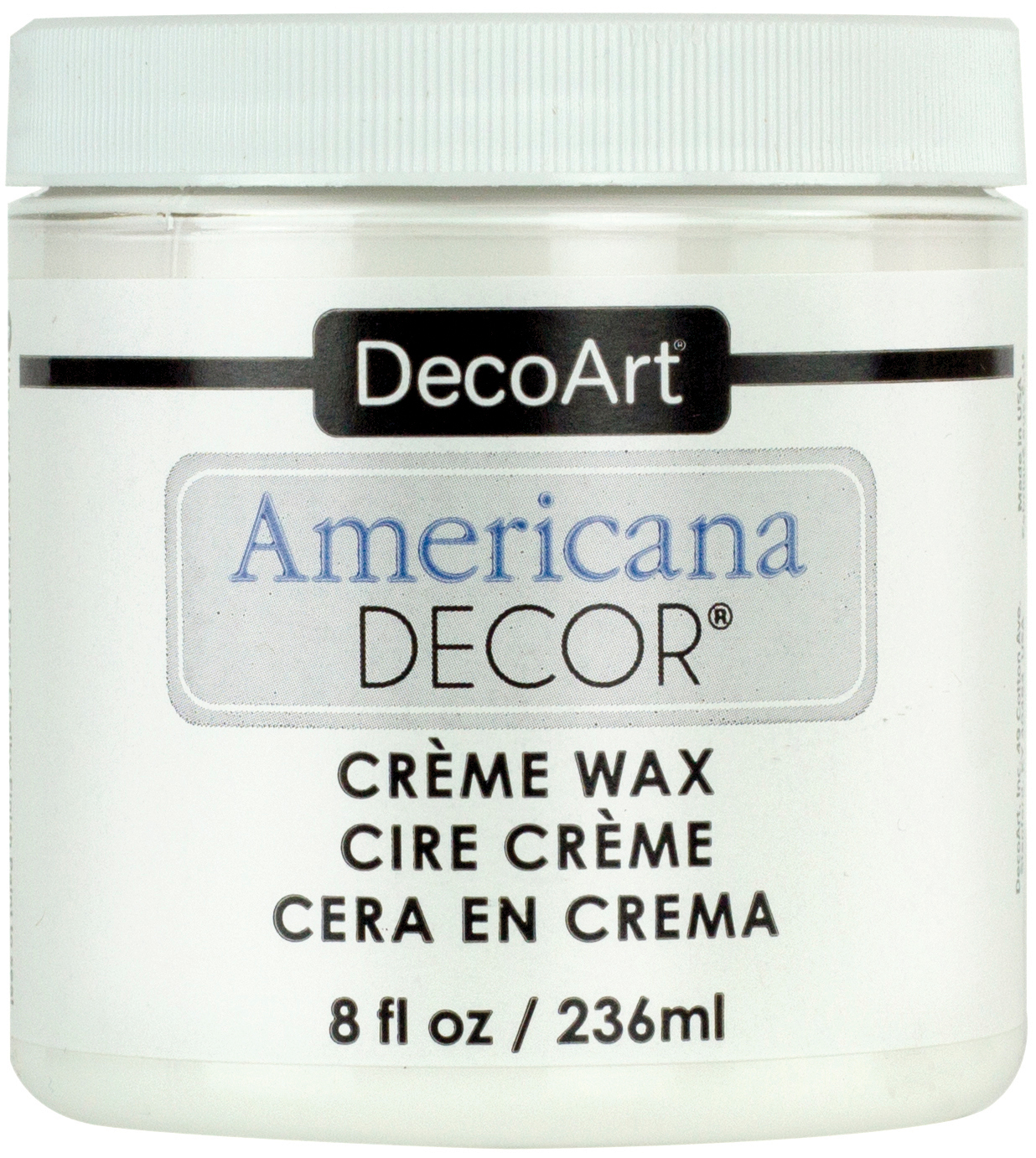 Americana Decor Creme Wax 8oz Clear