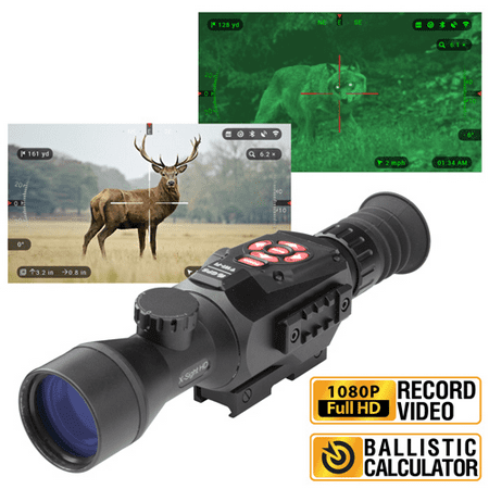 Refurbished ATN X-Sight II HD 3-14 Smart Day/Night Rifle Scope w/1080p Video, Ballistic Calculator, Rangefinder, WiFi, E-Compass, GPS, Barometer, IOS & Android (Millett 6 25x56 Long Range Scope Review)