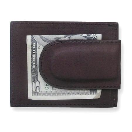 Icecarats Brown Leather Credit Card Slots Front Pocket Wallet  Man Hbag Tote Key Ring Money Clip