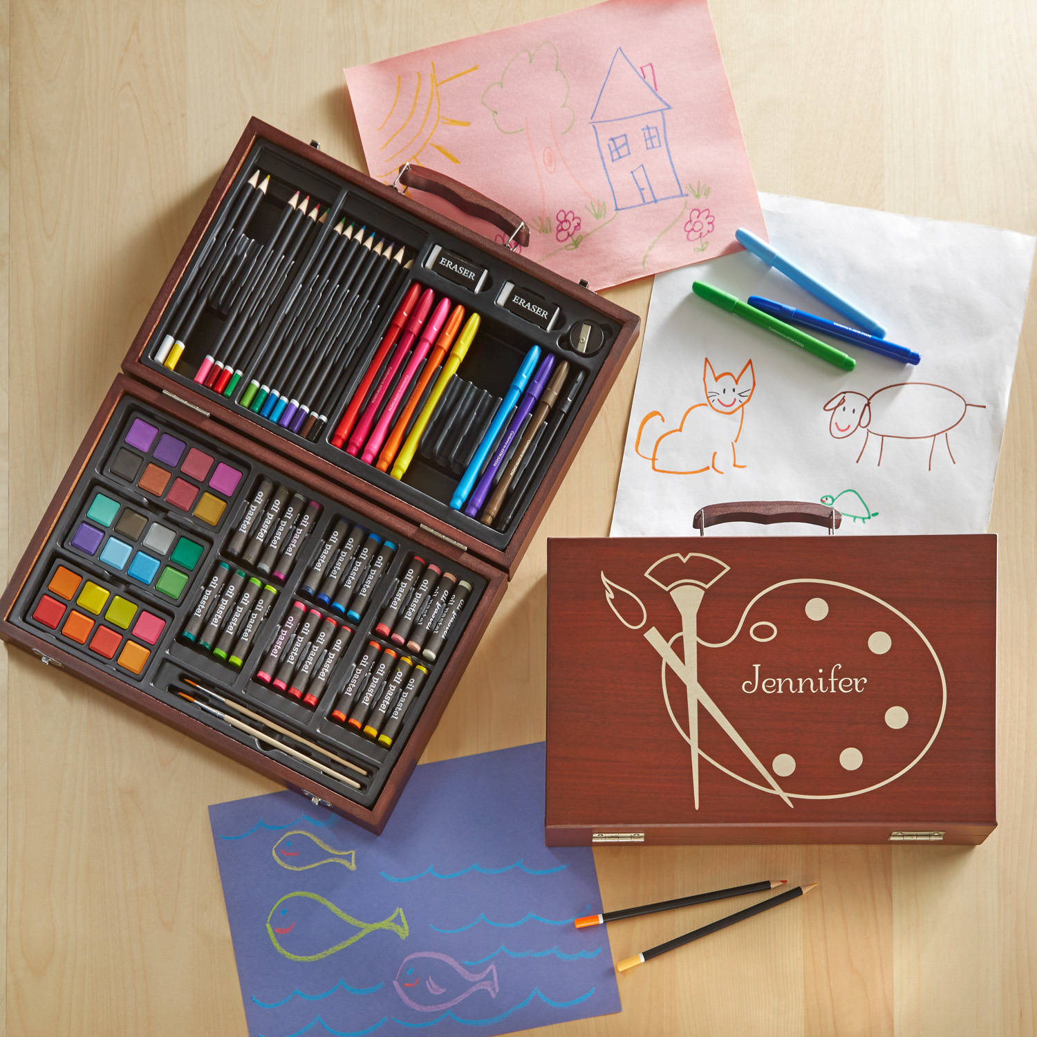 Personalized 80-Piece Youth Art Set