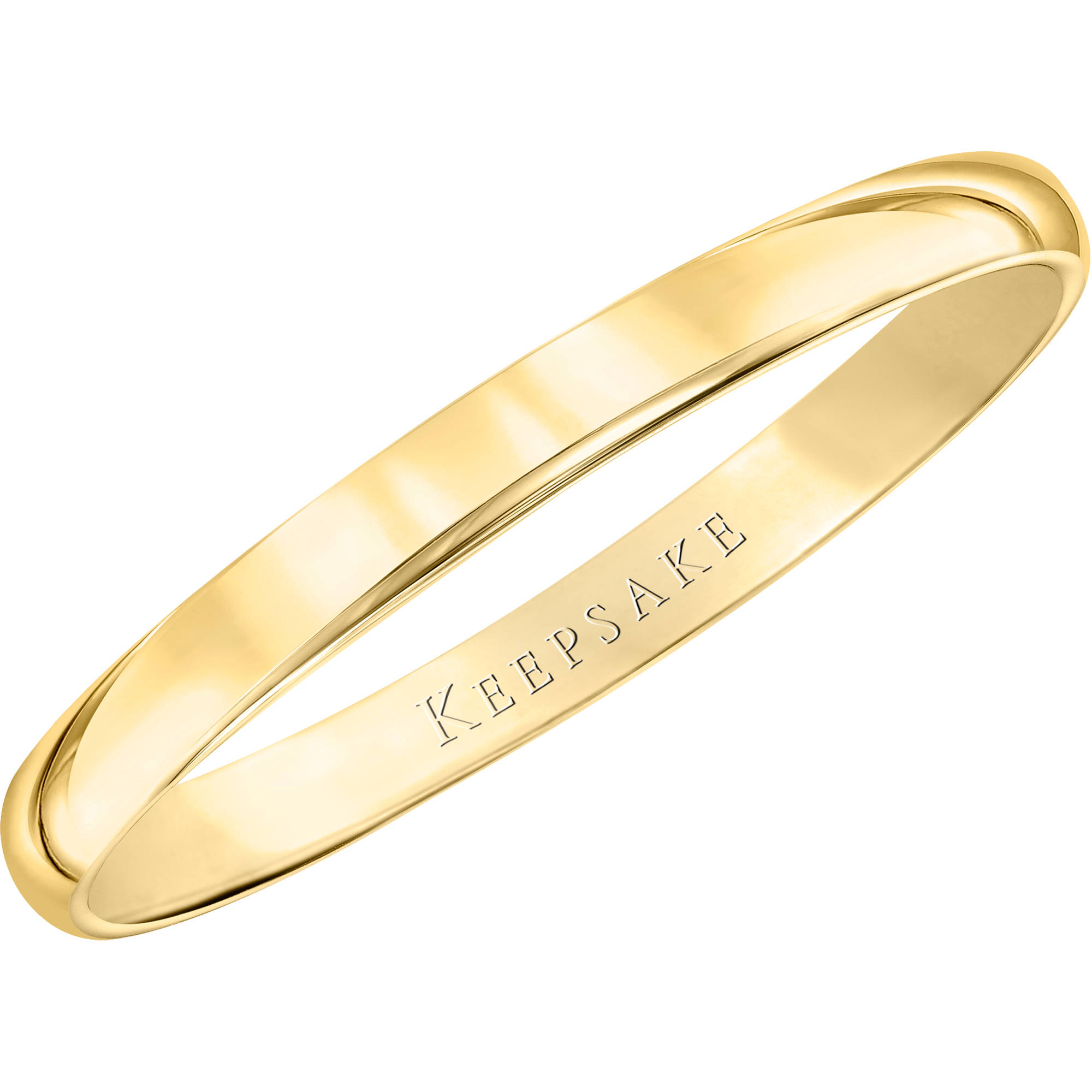 Keepsake 10kt Yellow Gold Wedding Band, 2mm