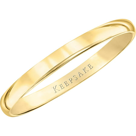 10kt Yellow Gold Wedding Band With High-Polish Finish, 2mm (Platinum Wedding Band 2mm)