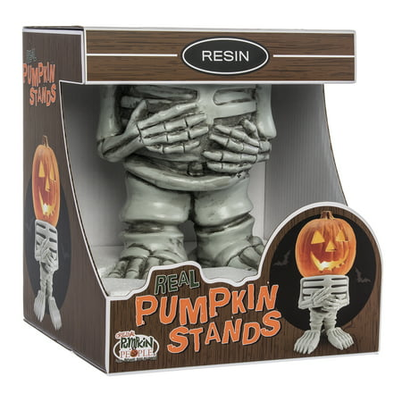 pumpkin people skeleton resin pumpkin statue indoor/outdoor halloween pumpkin statue for backyard, lawn or garden - iconic, hand painted, weatherproof, creepy, scary - made of resin by 3b - Garda Halloween