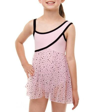 1c9dce9436df Danskin Now - Girls  Asymmetrical Babydoll Leotard - Walmart.com