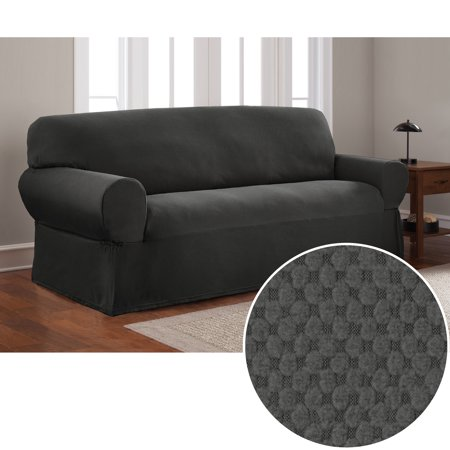 Mainstays Stretch Pixel 1 Piece Sofa Furniture Cover Slipcover ()